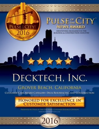 DeckTech, Inc. 2016 Customer Satisfaction Award